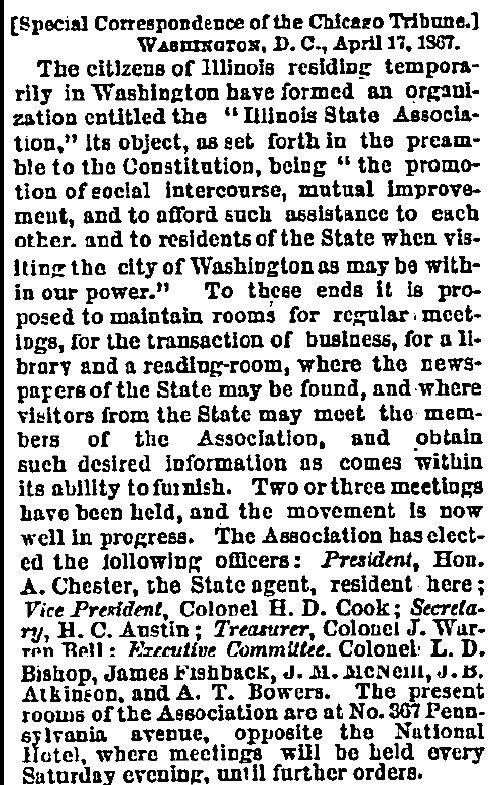 April 18, 1867 The Chicago Tribune