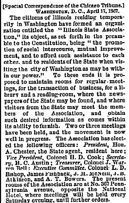 April 18, 1867 The Chicago Tribune