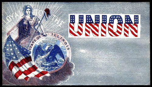 Illinois Civil War envelope
