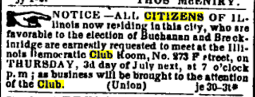 Washington Evening Star July 1, 1856