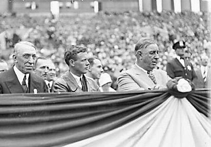 Lindbergh at Soldier Field August 1927