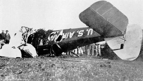 Lindbergh's second crash near Bloomington