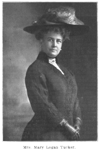 Mrs. Mary Logan Tucker about 1907