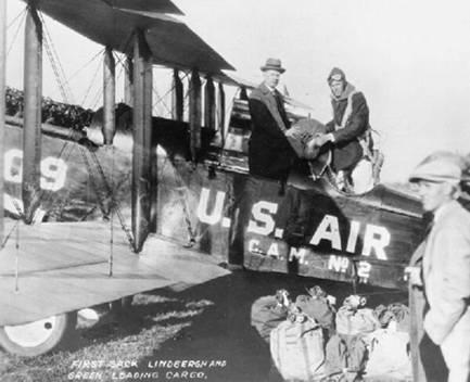 April 15, 1926 Lindbergh at Maywood