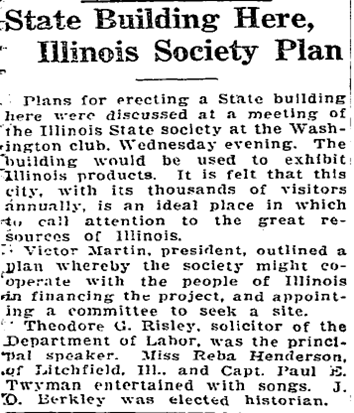 Washington Post Article about Illinois Society Plan