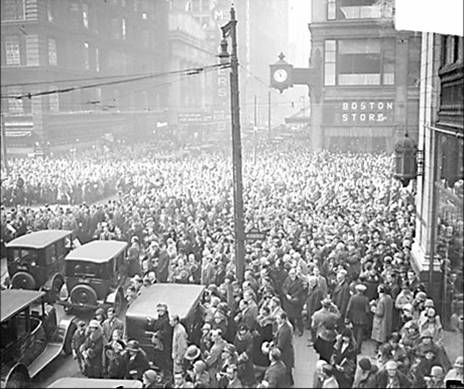 Armistice Day at State and Madison