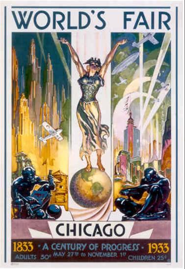 1933 Chicago World's Fair Poster