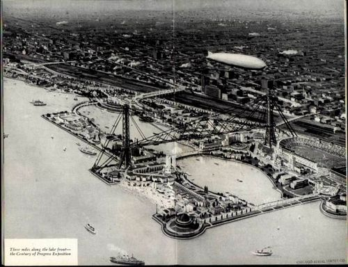 Aerial View of 1933 World's Fair