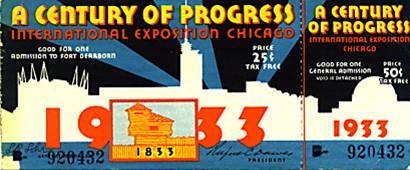 1933 Century of Progress Fair in Chicago