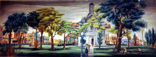 Vandalia Post Office Mural Art 1936