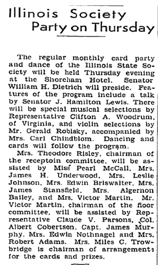 Washington Post Feb. 19. 1933