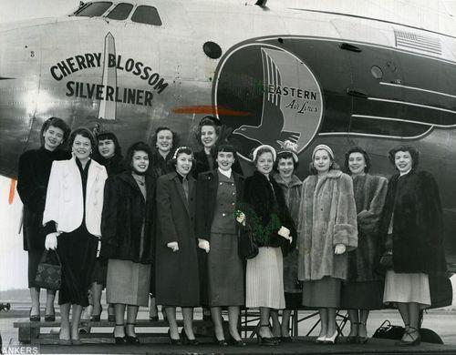 1950 Illinois Cherry Blossom Princess Barbara Feeman