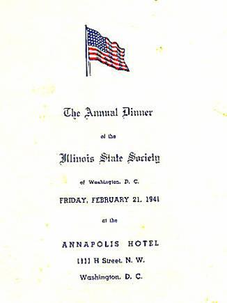 Feb. 21, 1941 Dinner Program