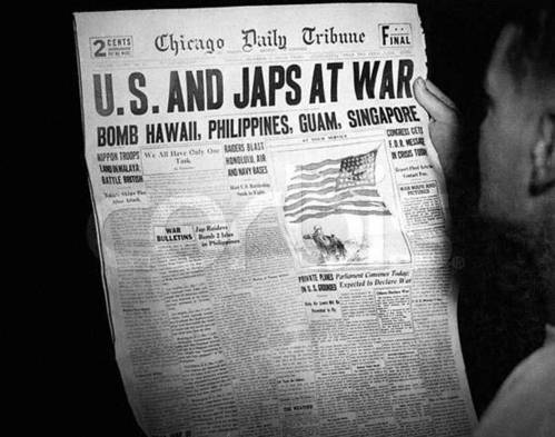 Dec. 8, 1941 Chicago Daily Tribune