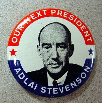 Gov. Adlai Stevenson II campaign button
