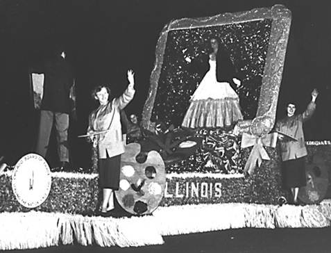 Illinois State Society Float 1954