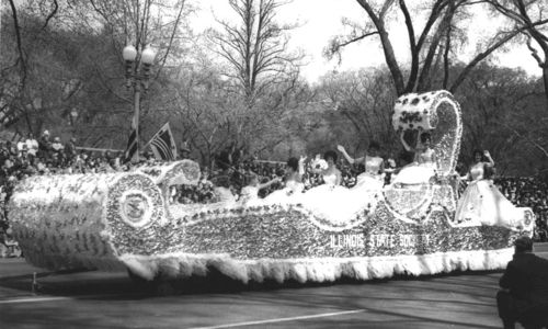 Illinois State Society Float 1963