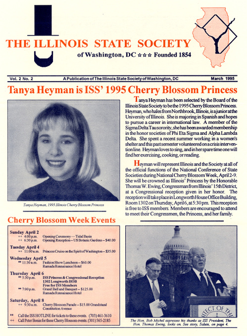 1995 Princess Tanya Heyman in ISS Newsletter