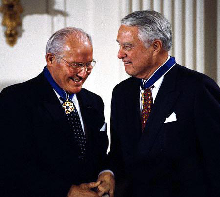 Bob Michel and Sargent Shriver in 1994