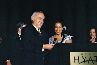 Bob Novak at 1997 Illinois State Society Gala
