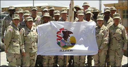 33rd Support Group Illinois Guard in Iraq 2003