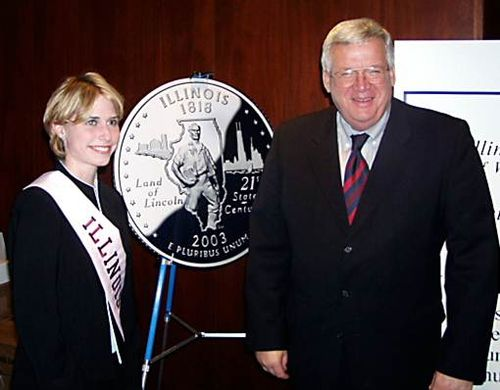 Amy Cada and Dennis Hastert 2002