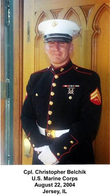 Cpl. Christopher Belchik of Jersey, Illinois 2004