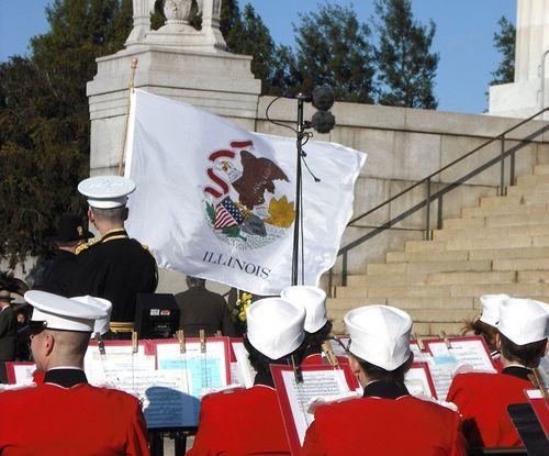 Illinois Flag on Feb. 12, 2009