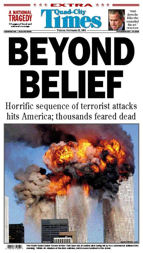 Quad City Times 9-11 Cover