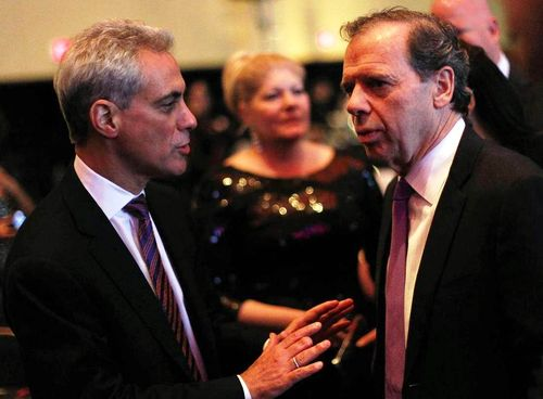Mayor Rahm Emanuel and State Sen. John Cullerton