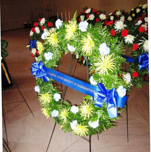 Lincoln Memorial Wreath 2012